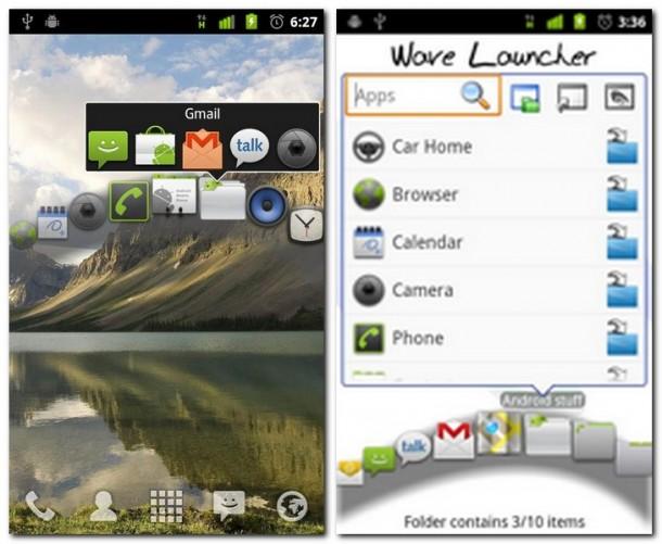 In einen Ordner passen bis zu 10 Apps. Die Wave nimmt bis zu 12 Ordner, Verknüpfungen oder Widgets.