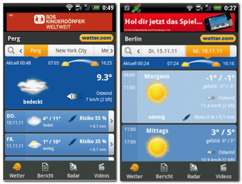 sechs tage wetter
