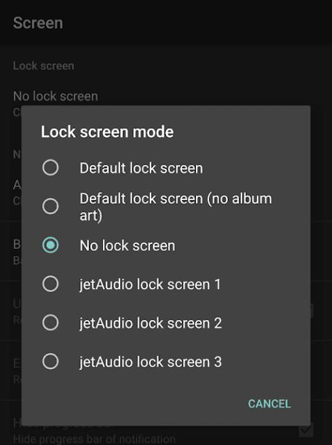 No lock screen option