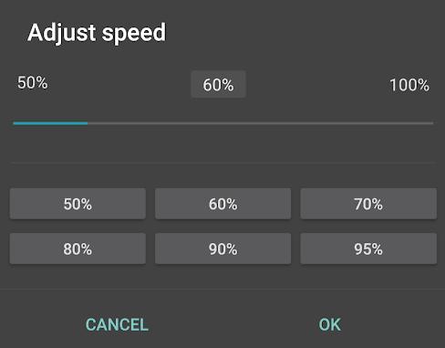 Slow Down Speed in jetAudio