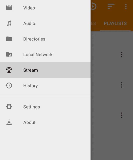 Stream videos in VLC