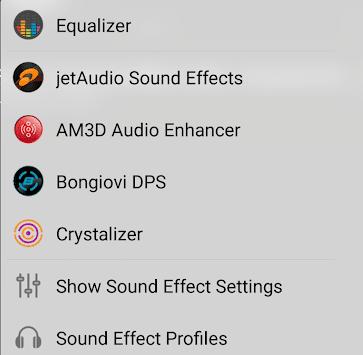 Sound Effect Settings in jetAudio