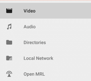 Video and Audio Interface in VLC Media App