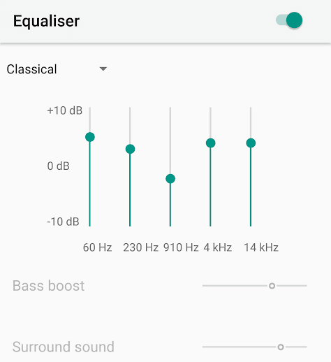 Equalizer in Apple Music