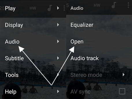 Open a Different Audio for a Currently Playing Video