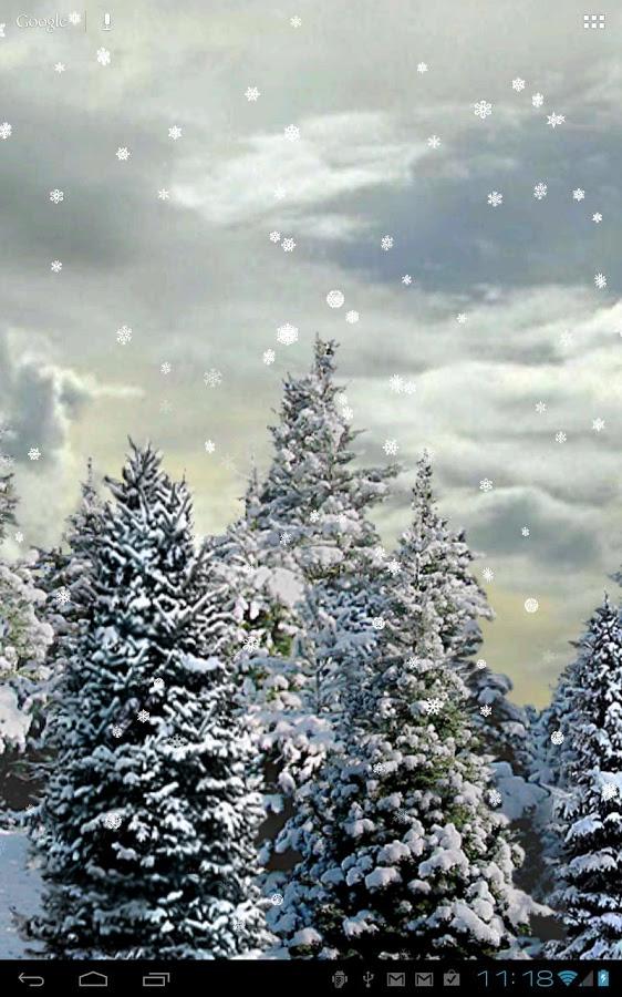 Falling Snow Live Wallpaper For Pc Opady śniegu Animowana Tapeta Android