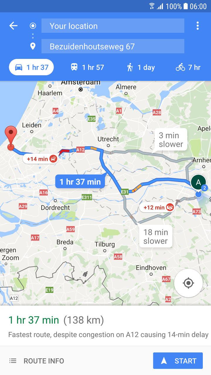 Google voegt Street View toe aan routebeschrijving in Google Maps