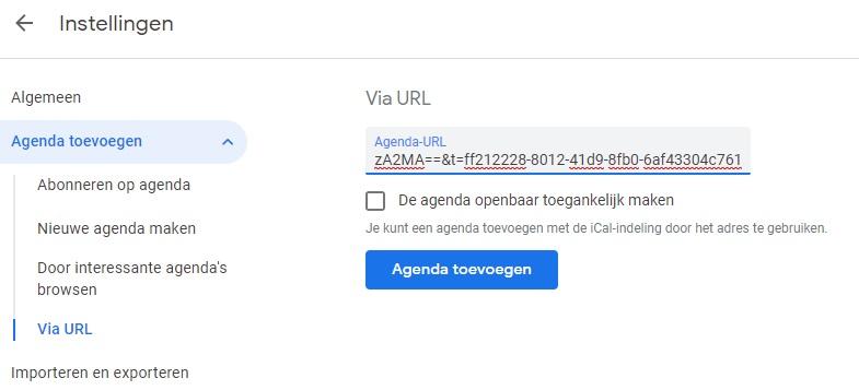 Google Agenda schoolaccount toevoegen