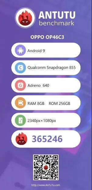 Ponsel Anyat Terbaru Oppo Hadir Di AnTuTu dengan Snapdragon 855