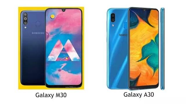 Perbandingan Spesifikasi Samsung Galaxy M30 dengan Galaxy A30, Lengkap!