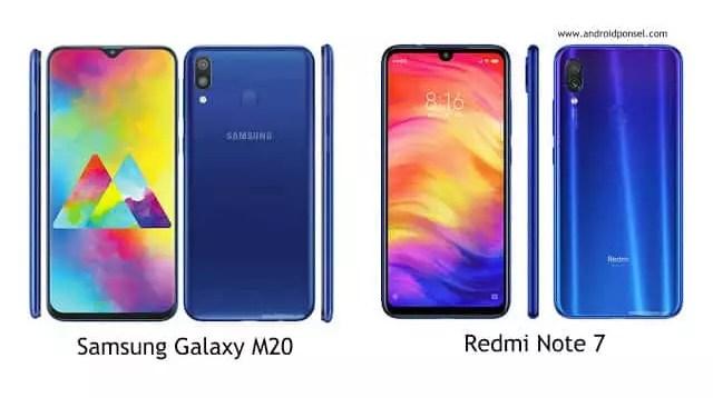 Perbandingan Samsung Galaxy M20 dengan Redmi Note 7, Pilih Mana?