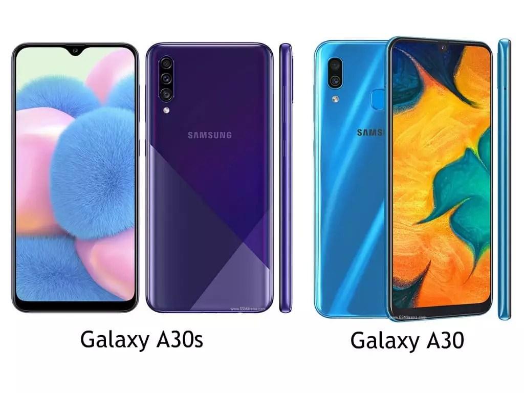 Galaxy A30s vs A30
