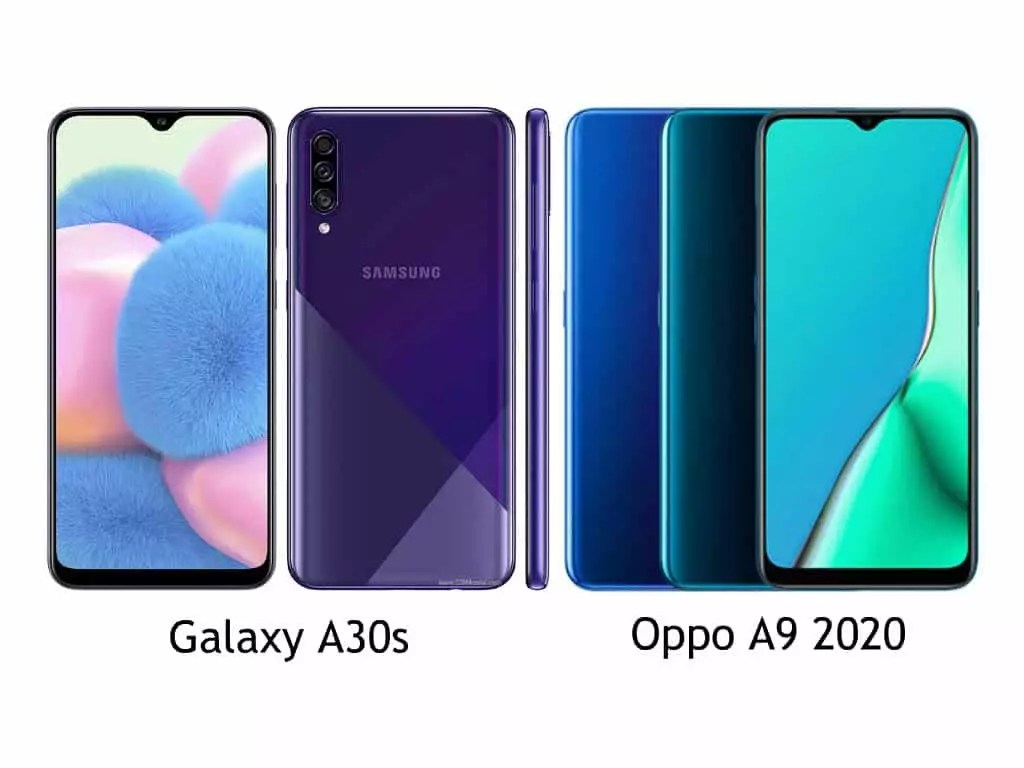 Perbandingan Galaxy A30s vs Oppo A9 2020 detail
