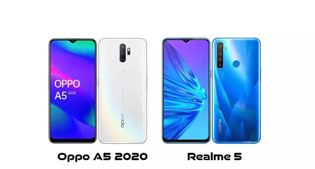 Oppo A5 2020 vs realme 5