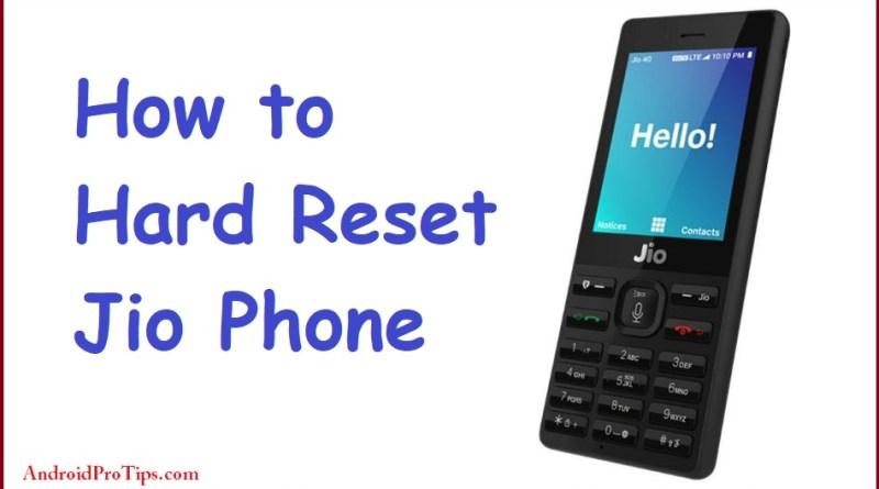 Reset Jio Phone