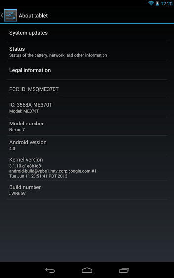 Nexus 7 Running on 4.3 - How to manually install official Android 4.3 firmware on Nexus 7