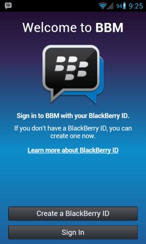 BlackBerry Messenger App for Android