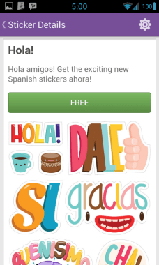 Viber Android Sticker Market 4 Hola - Viber updated to bring support for Android Tablets, 1000 stickers, instant voice messages & more