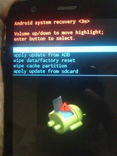 Moto G Dual SIM Recovery Mode
