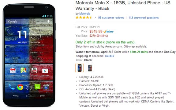 Motorola Moto X Amazon