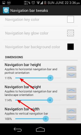 Change navigation bar height