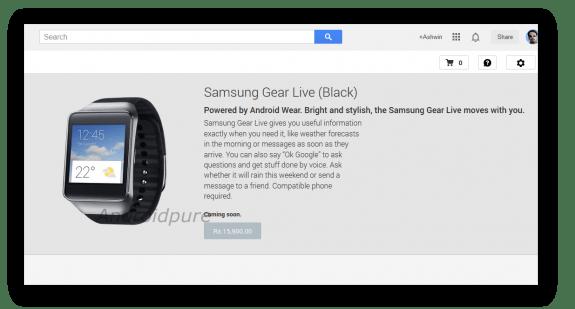 Samsung Gear Live (Black) -India