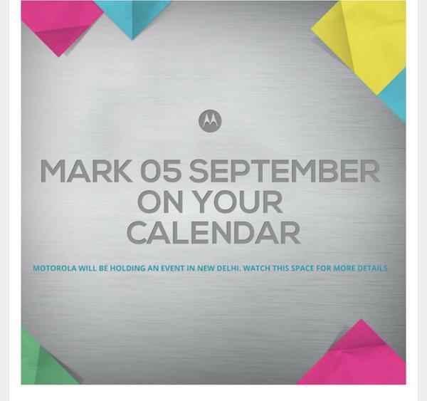Motorola India - September 5 - Moto G2 X+1 360 launch
