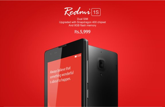 Xiaomi Redmi 1S Flipkart India Price