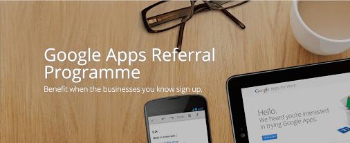 Google Apps Referral Programme