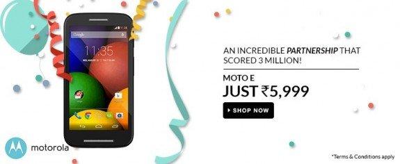 Moto E India Price Cut