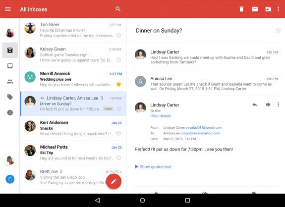 Gmail App Conversation view