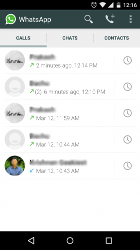 WhatsApp Calls Android