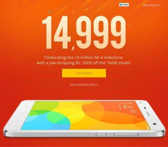 Xiaomi-Mi4-16GB-Price-Drop