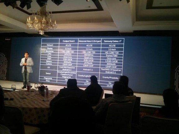 Coolpad Dazen Note 3 India Launch Event