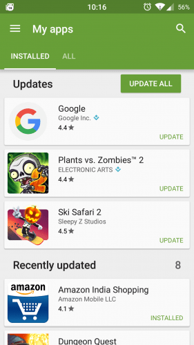 Google Play Store Ratings