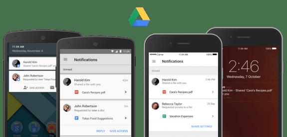 Google Drive Sharing Notifications