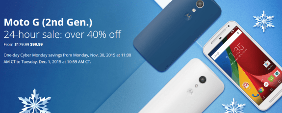 Moto G 2nd Gen discount sale Black Friday 2015