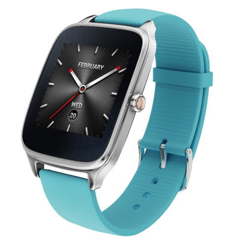 ASUS ZenWatch 2 Silver with rubber blue
