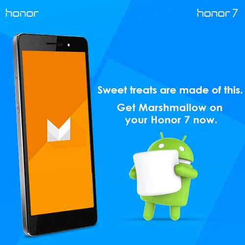 Huawei Honor 7 Android 6.0 Marshmallow OTA