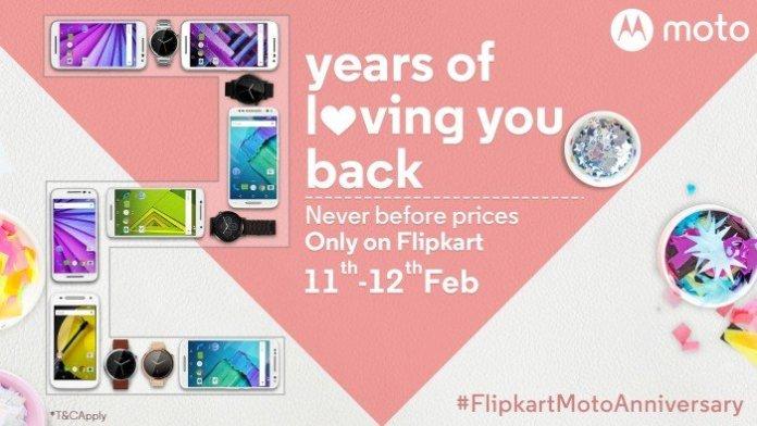 Moto Flipkart 2nd Anniversary deals