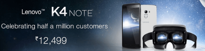 Lenovo K4 Note VR e1461916278689 - Lenovo K4 Note VR Bundle is back on Amazon India (only for April 29th)