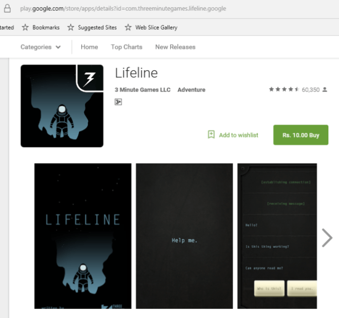 Lifeline sale Android game e1461587790322 - Lifeline game series is on sale for Rs. 10 on Google Play ($0.10)