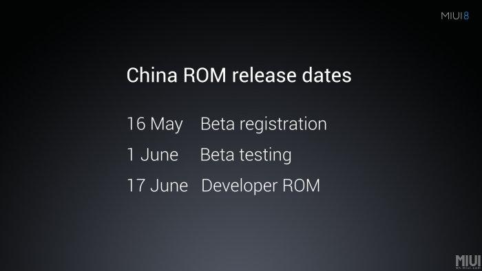 MIUI 8 release dates