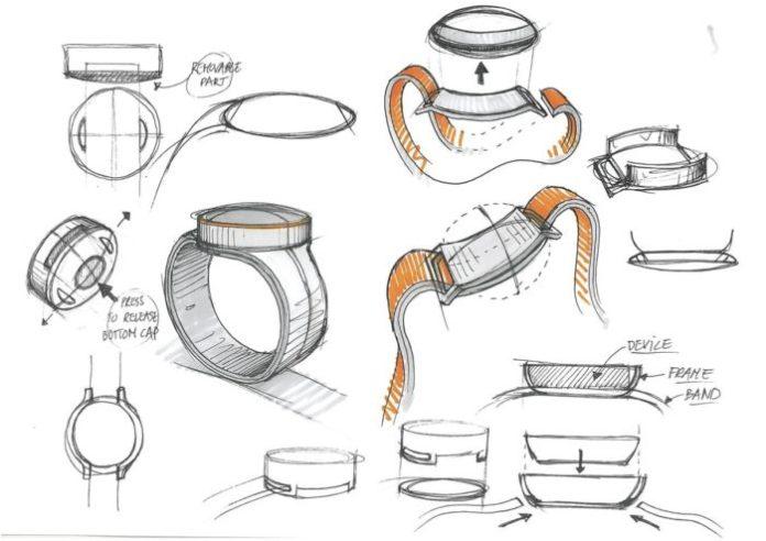 OnePlus smartwatch sketches