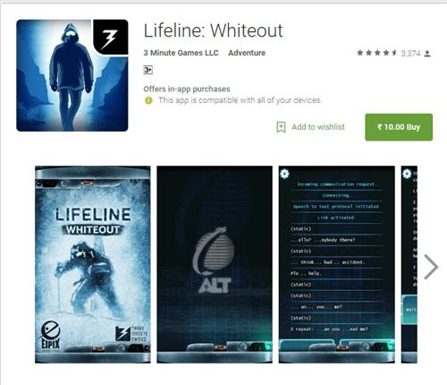 lifeline-whiteout-android-sale