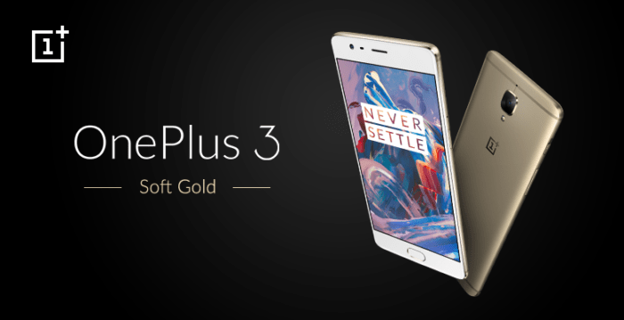 OnePlus 3 Soft Gold India