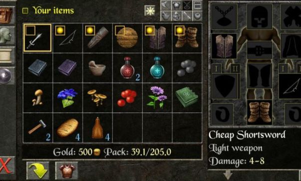 The Quest Inventory - The Quest RPG is now available for Android devices, and here is our mini review of the game
