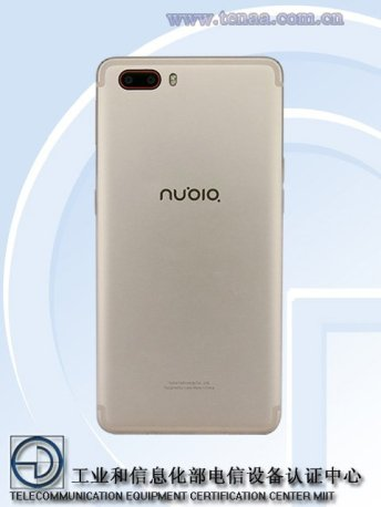 Nubia Z17 NX551J dual camera - Nubia Z17 NX551J dual camera phone passes TENAA, reveal specifications ahead of official launch