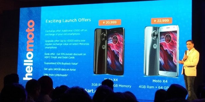 Moto X4 Pricing - Moto X4 with SD630, Dual Rear Camera launched in India, starting at Rs.20,999