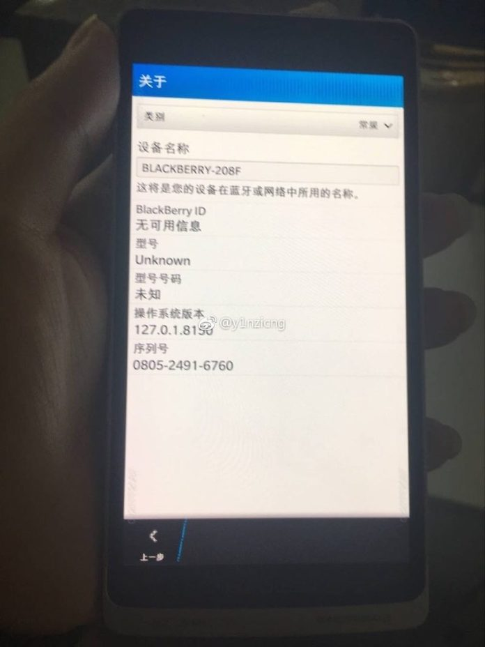 Blackberry 208F display - Unknown Blackberry 208F smartphone real images leak